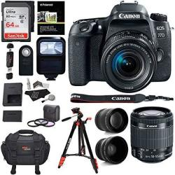 Ritz Camera Canon Eos 77D Camera Ef-s 18-55 Is Stm Lens Sandisk 64GB Memory  Ritz Gear Premium Slr Camera Bag Filter Kit Flash An   R24499 00   Digital