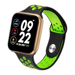 F8 Pro 1.3 Inch Touch Screen Smart Bracelet Support Sleep Monitor Blood Pressure Monitoring Blood Oxygen Monitoring Heart Rate Monitoring Shell Color:gold Black Green