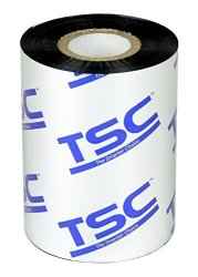 "Tsc 35-W090110-21CA Standard Wax Ribbon 3.54"" X 361' 1 2"" Core Cso For TC200 TC300 TC210 TC310 TTP-244CE Thermal Barcode Label Printer Pack Of 24"