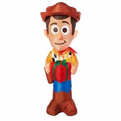 Gemmy Toy Story Christmas Inflatable Woody With Present 5FT Tall Indoor outdoor Holiday Decoration