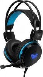 AULA Succubus Headset Head-band Black Blue 2 X 3.5 Mm USB 20 - 20000 Hz 117 Db 32 Ohm