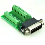 Electronics-Salon Slim Right Angle D'sub DB26HD Male Header Breakout Board Module Terminal Block Dsub Connector.