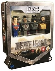 PEZ Candy Justice League Gift Set In Tin - Superman Exclusive Cyborg Batman And Aquaman