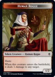 Magic: The Gathering - Human Rogue Token - Throne Of Eldraine
