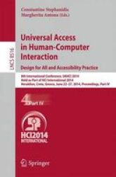 Universal Access In Human-computer Interaction: Design For All And Accessibility Practice - 8TH International Conference Uahci 2