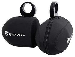 "Rockville Pair Rwbc Neoprene Covers For 6.5"" Marine Wakeboard Tower Speakers"