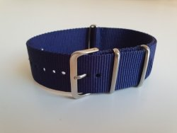 NATO 24MM Watch Strap Navy Blue