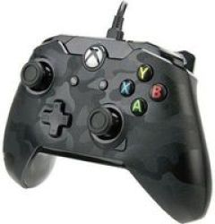 PDP Stealth Wired Camo Controller For Xbox One And PC Phantom Black Xbox One