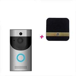 Flowing Water Wireless Doorbell 1080P Video HD Coms Sensor Two-way Talk Wifi-connected Doorbell