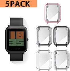 Haojavo Compatible With Amazfit Bip Smartwatch Screen Protector Case Ultra-thin Soft Tpu All Around Full Protective Protector Case For Xiaomi Huami Amazfit Bip Smartwatch Accessories