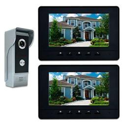 "Amocam Video Doorbell Phone 7"" Video Intercom Monitor Doorphone System Wired Video Door Phone HD Camera Kits Dual-way Intercom For Villa House Offic"