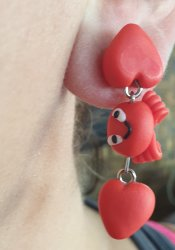 Handmade Clay Earrings - Crabs