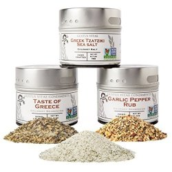 Garlic Lovers Collection Gift Pack - Non Gmo - 3 Magnetic Tins - Gourmet Finishing Salts Crafted In Small Batches By Gustus Vitae 5