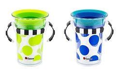 Sassy 7OZ Tritan Trainer Cup Multicolor 2 Pack