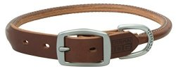 "Terrain D.o.g. Bridle Leather Rolled Dog Collar 19"" 17 - 20 In. 1 In. Width Brown"