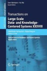 Transactions On Large-scale Data- And Knowledge-centered Systems Xxxviii - Special Issue On Database- And Expert-systems Applica