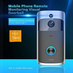 Ushot Smart Video Wireless Wifi Doorbell Ir Visual Camera Record Home Security System