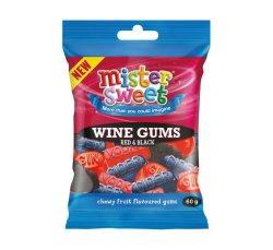 Mister Sweet MINI Prepacks Red & Black Wine Gums 24 X 60G