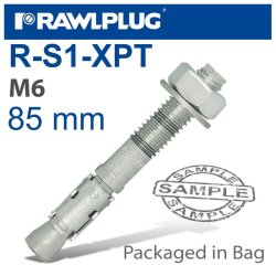 RawlPlug Throughbolt M6X85X25MM 4 -bag