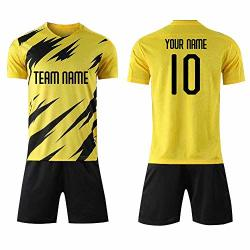 Personalized Green Mens Kids Soccer Jerseys & Shorts Custom Any Name Number Mens Daily Sports Training Suits Adults L Dortm