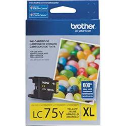 Brother Printer LC75Y High Yield XL Series Yellow Cartridge Ink - Retail Packaging