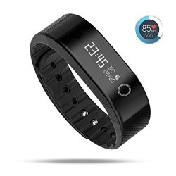 Urbst Fitness Tracker Wireless Activity Trackers Smart Bracelet With Heart Rate Monitors For Ios Android Activity Watch Wristband.black