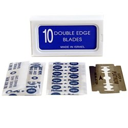 """American Safety Razor 120 Crystal """"super +"""" Stainless Steel Platinum Coated Double Edge Safety Razor Blades A.k.a Israeli Personnas"""