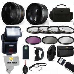 DSLRDEPOT VIVITAR Professional Accessory Kit For Nikon Coolpix P900   Includes Wide Angle Lens Macro Lens Telephoto Zoom Lens Car | R4357 00 |  Handheld