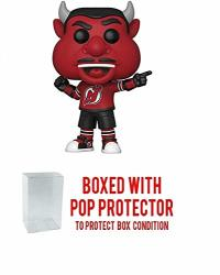 Pop Sports Nhl Mascots Nj Devil New Jersey Devils Action Figure Bundled With Pop Shield Protector To Protect Display Box