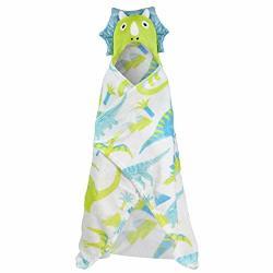 T&a Textiles And Hosiery Ltd Dinosaur Hooded Blanket