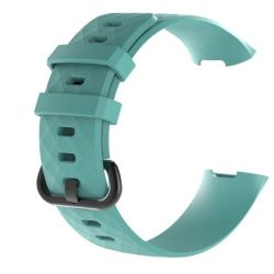 Teal Large Fitbit Charge 3 Silicone Strap