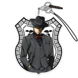 Gin Tama Gintoki Sakata Noir Ver. Character Cospa Acrylic Mascot Phone Strap Collection Anime Art