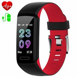 Fitness Tracker Activity Tracker With Heart Rate & Blood Pressure & Sleep Monitor IP67 Waterproof 2019 Version Android Ios Smart Watch Pedometer Calorie Counter