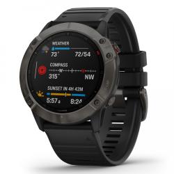 Fenix Garmin 6X - Sapphire Edition - Carbon Gray Dlc black Ultimate Multisport Gps Watch