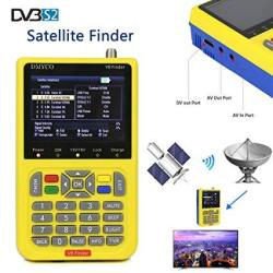 Satellite Finder V8 Finder Free Sat Digital Fta Signal Meter DVB-S2  Receiver MPEG-4 HD 1080P Free To Air Dish Adjusting Tool 3 5 | R1784 00 |