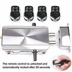 Remote Control Smart Lock - Intelligent Invisible Anti-theft Home Security Door Lock Kit - Wireless Keyless Deadbolt Access Control System With 4 Remotes Automatic