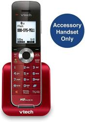 USA Vtech DS6401-16 Accessory Cordless Handset Red Requires A DS6421 DS6422 Or DS6472 Series Cordless Phone System To Operate