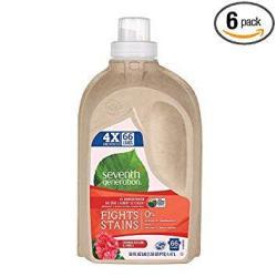 Seventh Generation Geranium Blossoms And Vanilla 4X Laundry Detergent Liquid 50 Ounce - 6 Per Case.