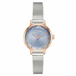 Women's Watches Ultra-thin Classic Analog Quartz Watch Imported Movement Wrist Watch With Date And Milanese Mesh Band-axiba