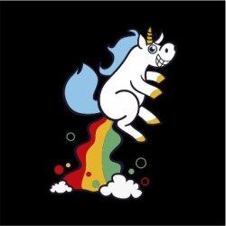 Unicorn Fart Mens Black T-Shirt Medium