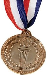 """US Toy U.s. Toy 2"""" Costume Accessory Olympic Style Plastic Bronze Medal"""