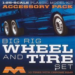 USA Moebius Models MOE1010 1 25 Semi Wheels tires 10 Pk