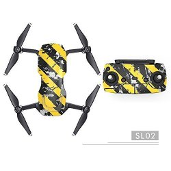 Amyove Drone Accessories Waterproof Anti-scratch Stickers Cool Colorful Theme Skin Decals For Dji Mavic Air Drone Body And Remot