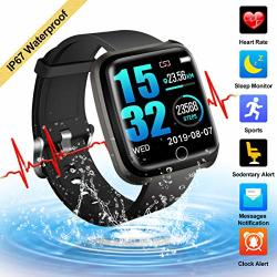 Fitness Tracker Activity Tracker Smart Watch With Heart Rate Monitor Touchscreen Waterproof Bluetooth Smartwatch Sport Fitness Activity Tracker Watch Compatible With Android Ios Phone