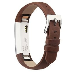 IGK Leather Replacemnt Bands Compatible For Fitbit Alta And Fitbit Alta Hr Genuine Leather Wristbands With Stainless Steel Buckl