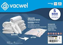 Jumbo XXL Vacuum Storage Bags 47 X 35 Space Saver Bags For Clothes King Comforters Or A Small Mattress Thick & Strong XXL Size